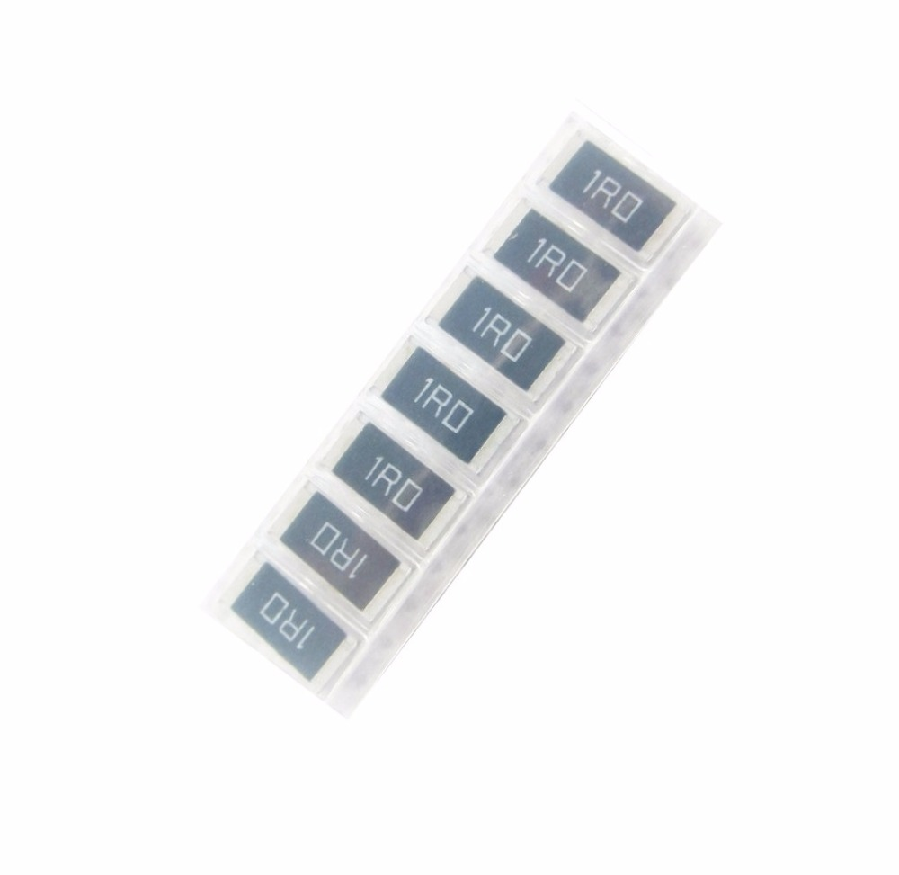 50 pcs 2512 SMD Resistor 1W 1R 5% Chip Resistor 1 ohm 1R0  39 into carbon film resistor 2 w r 39 ohm 5