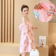 Summer Maternity Breast Feeding Dresses Nursing Dress Pregnancy Lactation Clothes for Pregnant Women Breastfeeding Clothing B26