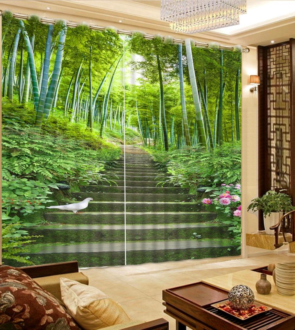 US $54.0 55% OFF Foto Benutzerdefinierte größe Bambus Vorhänge 3D Vorhang  Für Schlafzimmer Dekoration Blackout Vorhänge Für wohnzimmer in Foto ...