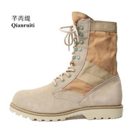 High Quality Sport Military Crepe Boot Outdoor Hiking Footwear Men Ankle Boots Lace up Anti skid Man Shoes Ankle Boots