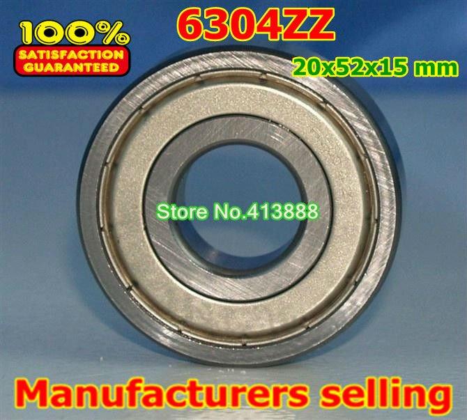 Прямая с фабрики 6304 6304ZZ 6304-2Z 6304Z 80304 20*52*15 мм Высокое качество радиальный подшипник 10 шт./лот