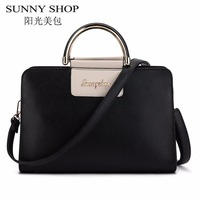 SUNNY SHOP Luxury Leather Bags Handbags Women Famous Brands Tote Shoulder Bag Designer Sac A Main