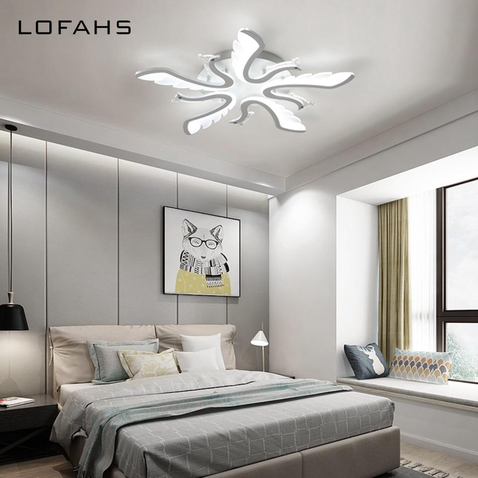 LOFAHS led araña moderna iluminación remoto lámpara de techo para ...