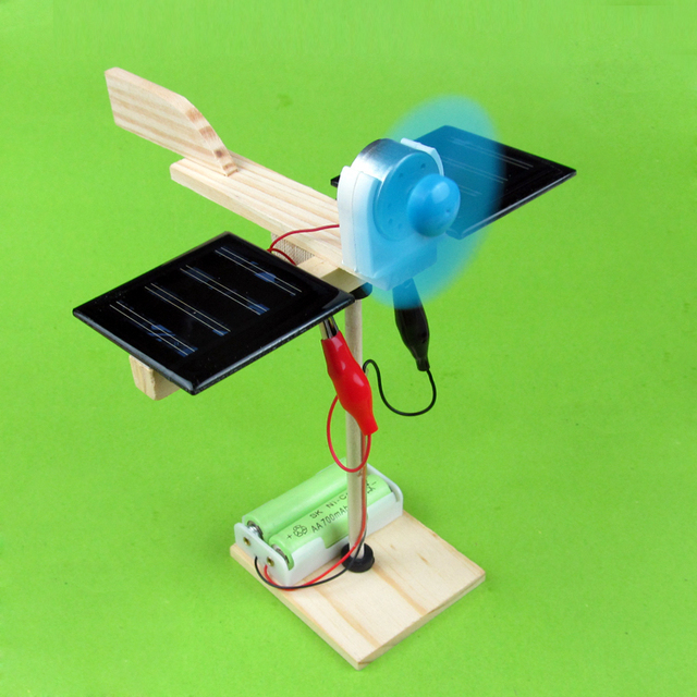 2sets lot 2015 new diy solar energy mini fan creative for How to build a solar panel for kids