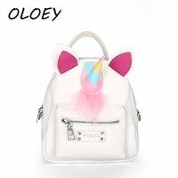 Women Unicorn Mini Backpacks For Female PU Leather Back Bags Young Girls Crossbody Shoulder Bag Children School Bags!