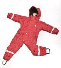 1-7Y Детские Snowsuit дети Снег Износ Комбинезон Водонепроницаемый Ветрозащитный Бренд Флис подкладка Мальчики Девочки Skisuits