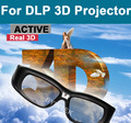 New Modern Brand Depth True DLP Projectors Universal Rechargeable Active Shutter 3D Glasses