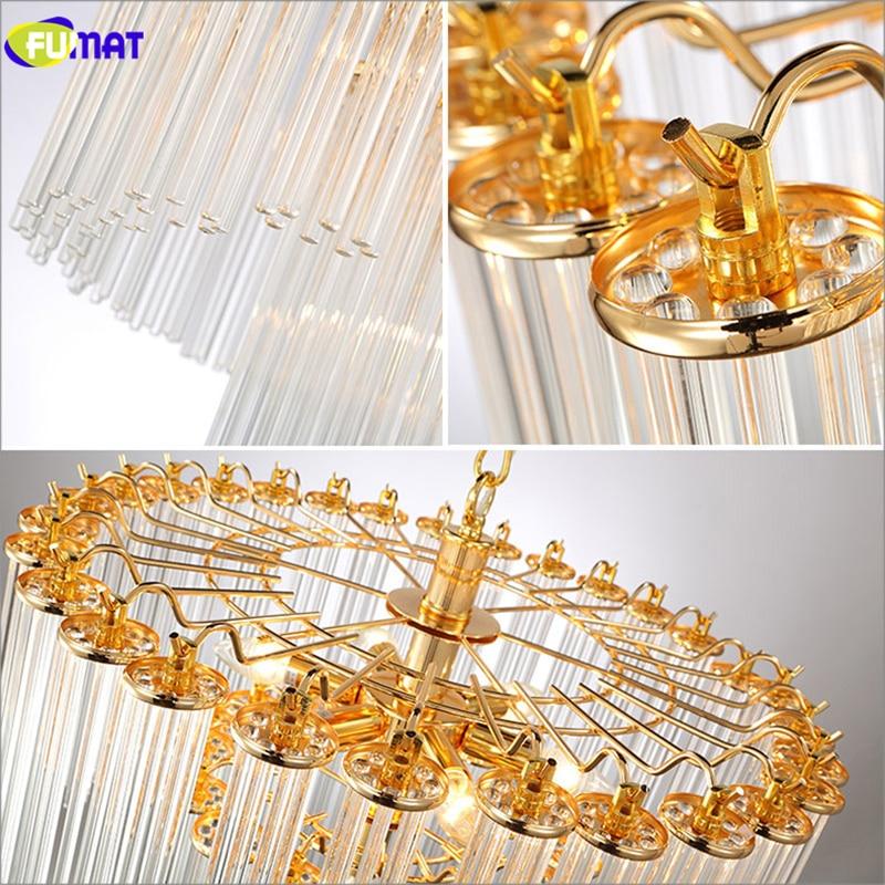 Moderne glazen hanglampen Korte goud + heldere eetkamer Slaapkamer - Binnenverlichting - Foto 2