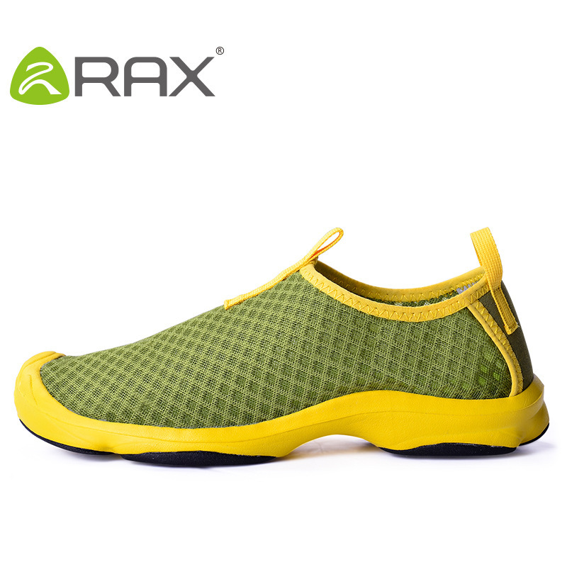 RAX Aqua Shoes men breathable wading outdoor shoes men lightweight male quick-drying sneakers #B1588 lightweight men water shoes quick drying wading shoes male aqua shoes for outdoor upstream breathable sports hiking shoes