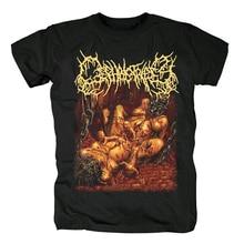 Blusa bloodhoof cephalotripsy, camiseta de algodão morte metal preta tamanho asiático