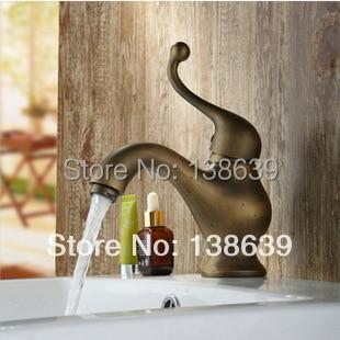 Free shipping Bath faucet basin sink Mixer tap,antique brass polished tap,vessel sink faucet,modern bathroom faucet,promotion стоимость