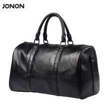 Jonon Fashion Men's Travel Bags Brand luggage Waterproof suitcase duffel bag Large Capacity Bags casual leather handbag