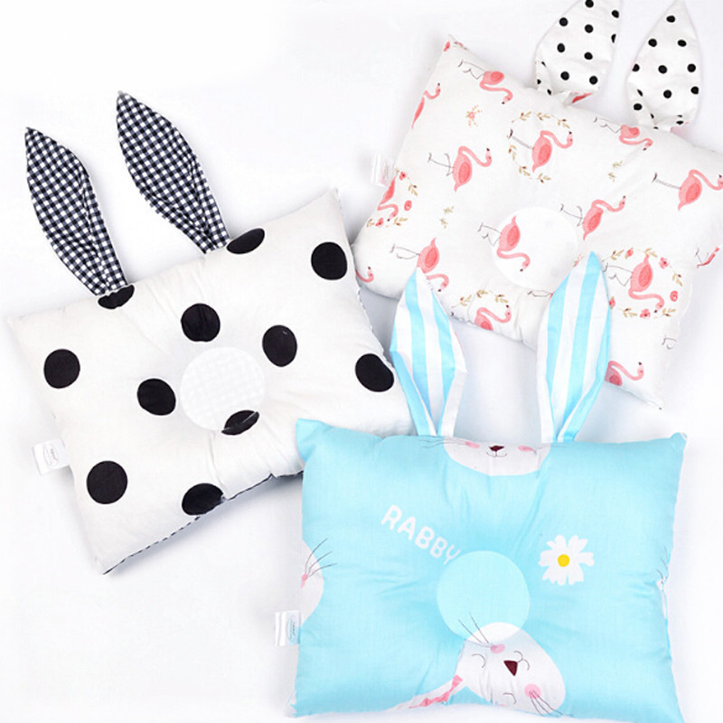 Funny Rabbit Ear Baby Soft Shaping Pillows Toddler Kids 100% Cotton Cute Rabbit Baby Rectangle Pillows Baby Decorative Pillows