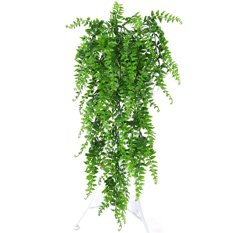 Artificial Plastic Persian Fern Tree Leaves Plastic Green Simulation Plant Fake Leaves Rattan Classic Home Decoration