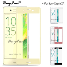 3D Curved Surface Tempered Glass For Sony Xperia f3112 Glass Screen Protector Toughened Protective Film Case For Sony XA F3111