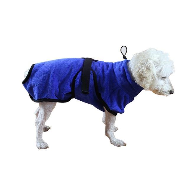 Water Absorberende Hond Badjas Badlaken Grooming Huisdier Product Badjas Warm Hondenkleding Kat Hood Pet Badhanddoek Super