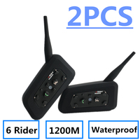 2018 NEW V6 Bluetooth Intercom For Motorcycle Intercom Helmet Headsets Intercom Motorcycle Intercomunicador Moto