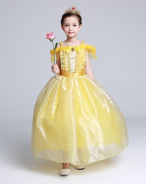 d8f02c89df4b2 Kids Fair BELLA Girls Christmas Costumes Long Dresses Beauty and The Beast  Cosplay Clothing Children Princess Belle dresses