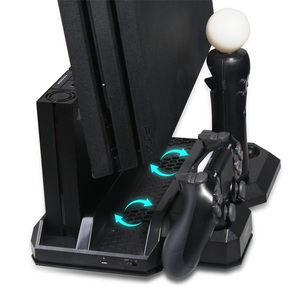 Image 4 - Multifunctional Vertical Console Cooling Stand PS4 Pro/PS4 Slim/PS4 PS Move PS4 Controller Charger Station VR Showcase Holder