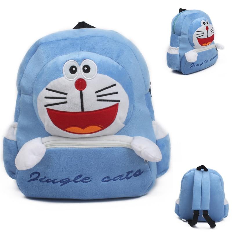 Cute Cartoon Children Plush SchoolBags Doraemon Toy Girls Boy Toddler Animal Backpack Schoolbag Kids 28*26cm FREE SHIPPING
