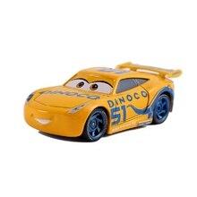 Disney Pixar Arabalar 2 ve Arabalar 3 Dinoco Cruz Ramirez ve Jackson Fırtına Metal Döküm Oyuncak Araba 1:55 Gevşek Brand stokta yeni