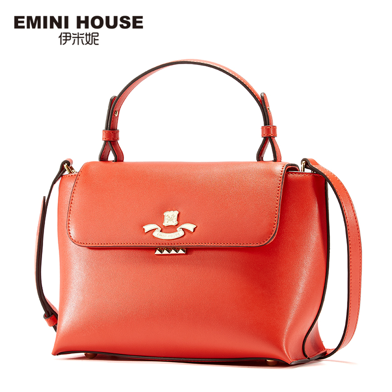 EMINI HOUSE Split Leather Top-Handle Bag Fashion Women Shoulder Bag Crossbady Bags For Women Handbags Women Messenger Bags figestin mini top handle handbags for women fashion split leather green cover shoulder bags small totes crossbody hand bag new