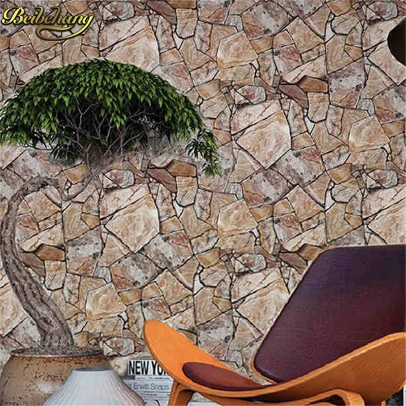 Beibehang rétro marbre Imitation pierre papier peint papier peint papel de parede 3d papier peint décor mural pour salon salle de bain revêtement mural