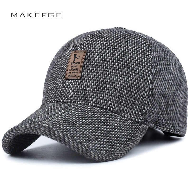 c3e87964836537 New Fashion Winter Baseball Cap Earmuffs Hat Man Woman High Quality Wool  Knitting Skiing Outdoor Sports