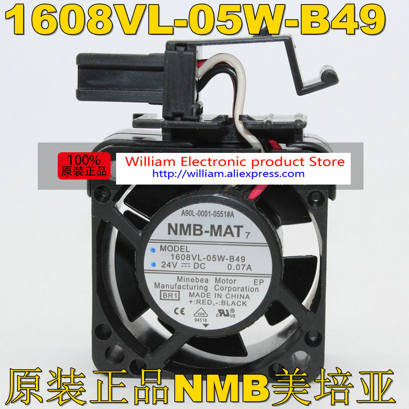 New Original for FANUC System fan A90L-0001-0551#A NMB 1608VL-05W-B49 24V 0.07A 40*40*20MM 4CM danone йогурт питьевой вишня гранат 2 1