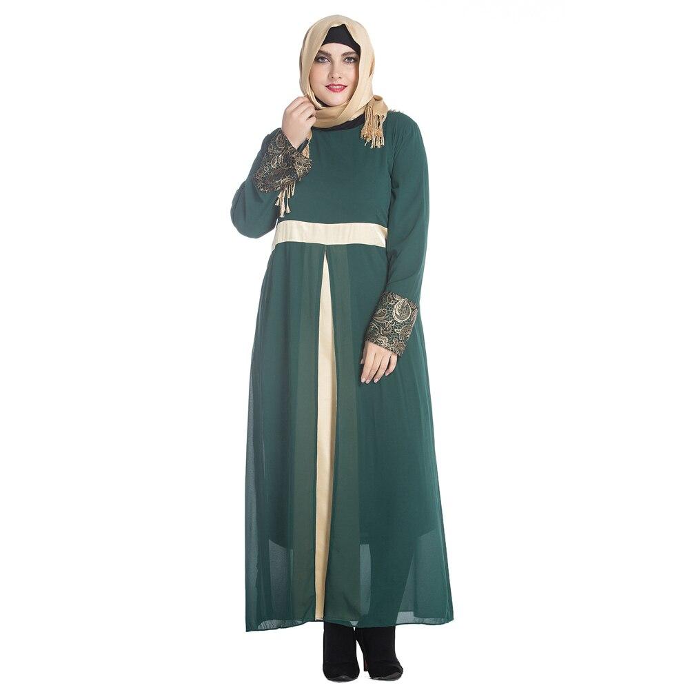 5XL 6XL 7XL Plus Size Muslim Dress font b Women b font Long Sleeve Maxi Abaya turkish women clothes promotion shop for promotional turkish women,7xl Womens Clothing