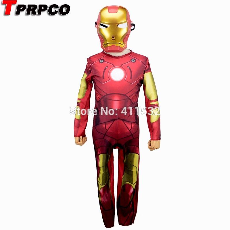 iron man costume for kids mask cosplay ironman halloween costumes ...