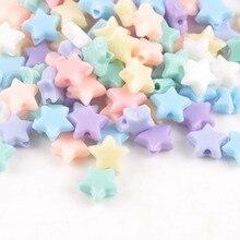 Разноцветные акриловые бусины с фиксатором в форме звезды подходят для ювелирных изделий ручной работы 10 мм 100 шт YKL0122X
