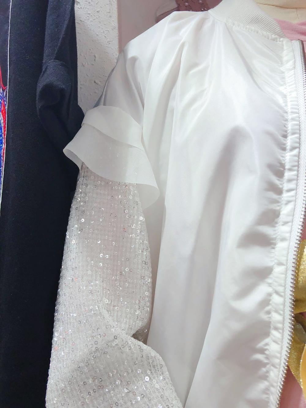 Courte Nouveau De 2018 Ide Lâche Paillettes Mode Femmes Automne Veste Manches gCxvdHvqw