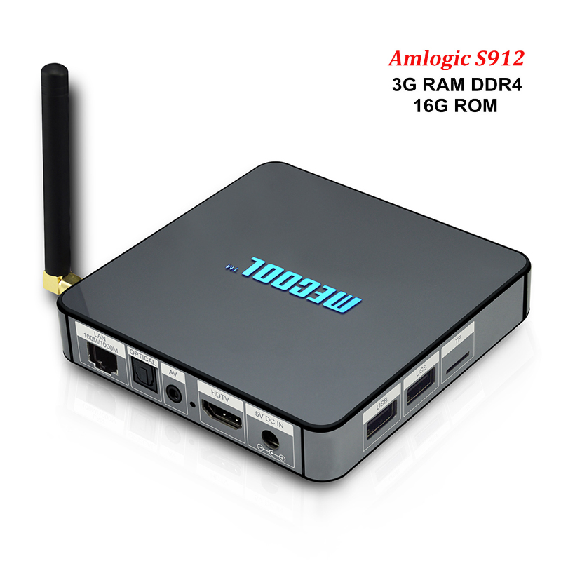 BB2 Pro Smart Android 6.0 Tv Box Amlogic S912 Octa core 3GB DDR4 RAM 16G ROM KODi 17.0 WIFI Media Player PK xioami MXQ htv Box 5