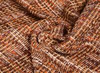 Wholesal Brushed Color Blended Fluffy Soft Weave Fabric Dresses Print Satin Fabric Textiles Cheap Fabrics Tweed