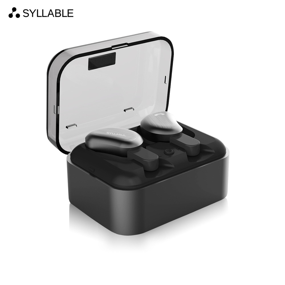 SYLLABLE D9 Wireless Earbud TWS Bluetooth Headset Metal Charge Case Bluetooth Earphone for Phone Mic for Calls IPX4 Waterproof