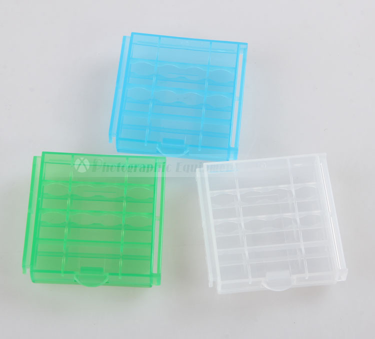 Wholesale 100pcs/Lot Accumulator aa / aaa Battery Storage Box Plastic Hard Case Battery  ...