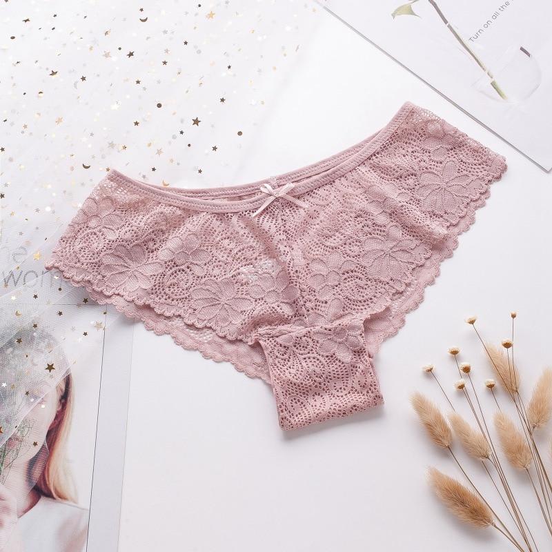 Women Fashion Sexy Lace Panties Cozy Lingerie Tempting Pretty Briefs High Quality Cotton Low Waist Cute Women Underwear