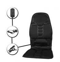 Neck Back Massage Heat Cushion Home Car Magnetic Field Lumbar Heat Vibrate Cushion Neck Massage Chair
