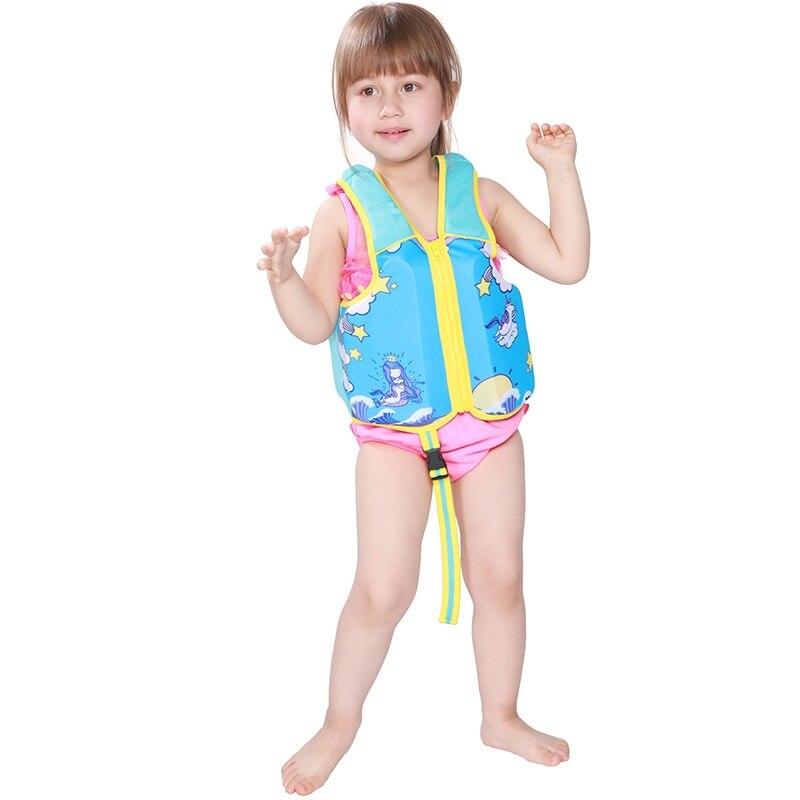 2018 lindo niños la vida chaleco niños Zwemvest Voor niños flor estampado de tiburón de la vida Kayak playa piscina PISCINA niño salvavidas