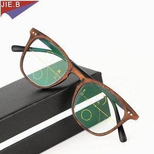 Image 2 - 2019 Ultra Light antifatigue Progressive Multifocal Fashion  Reading Glasses men Female Bifocal Intelligence diopter glasses