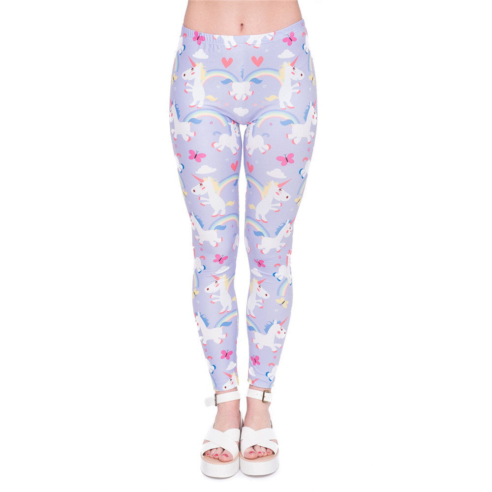 Narwhal and Unicorn Pattern Football Leggings Workout Outfits for Women
