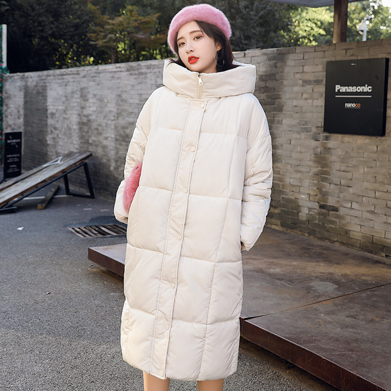 Maternity winter coat 2018 fashion down jacket for pregnant women loose thick Long coat windbreaker Look thin Warm pregnant coat maternity winter coat pregnant women pregnant women cotton black coat large size coat tide tan collar thick long hooded jacket