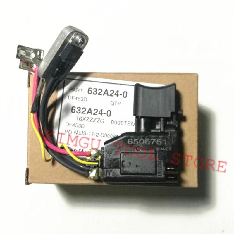 цена на Switch 632A24-0 for MAKITA DHP343 DDF343 BHP343 BDF343 DHP453RFE DF453D DDF453RFE DDF453 DDF343 6506751