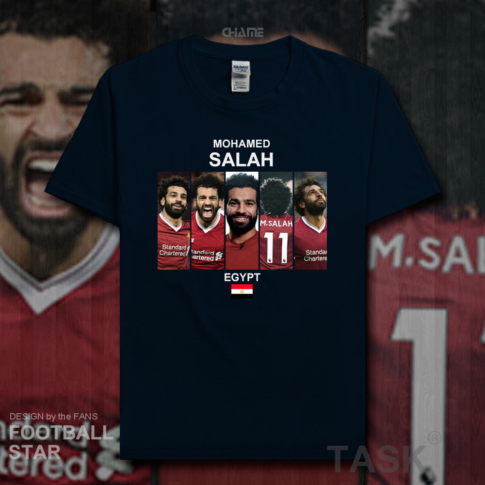 Mohamed Salah t shirt men 2018 jerseys Egypt Liverpool footballer star  tshirt cotton fitness t shirt clothes casual summer 20-in T-Shirts from  Men s ... 3e8e3f4ea
