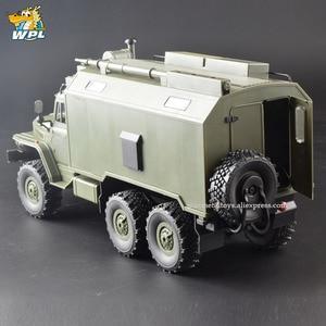 Image 3 - WPL B36 1:16 Ural RC Car 6WD Military Truck Rock Crawler Command Communication Vehicle KIT Toy Carrinho de controle