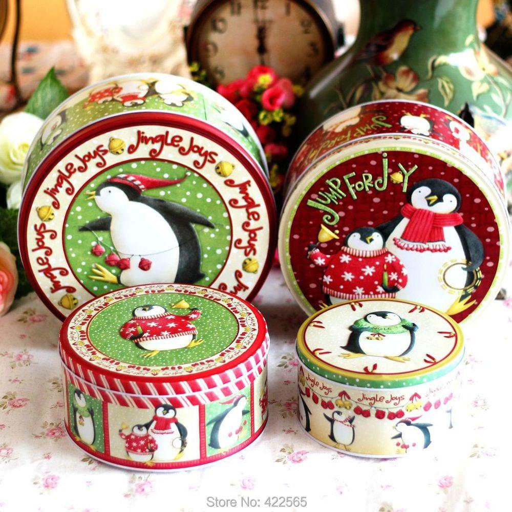 NEW! 4pcs/lot Zakka Metal Storage Box Christmas Tin Box Holiday ...