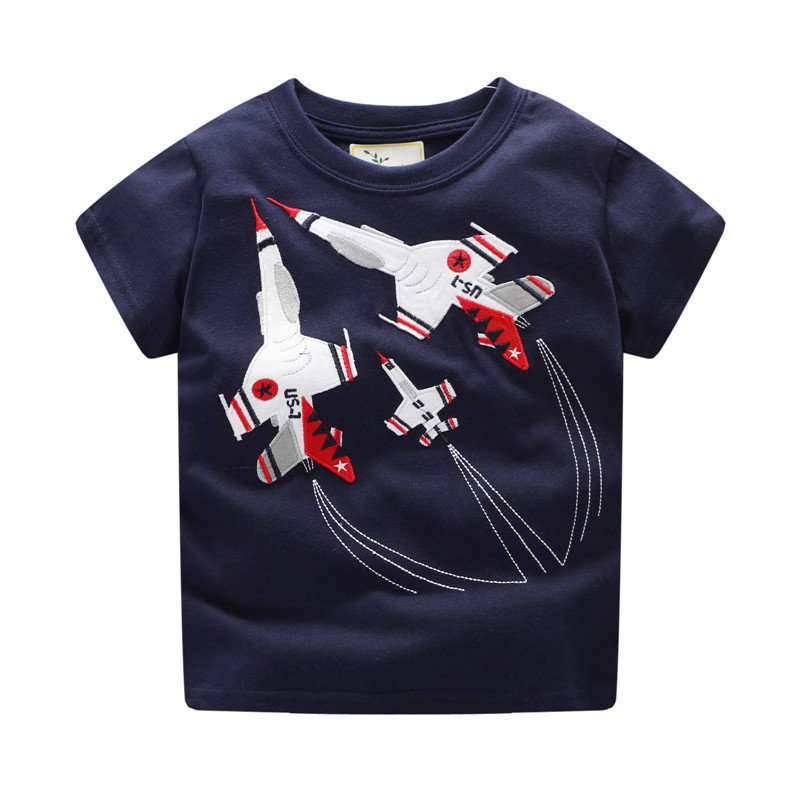 Jumping meters Tees & tops boys cotton cartoon child clothes knitted t shirts hot selling baby boys summer t shirt kids clothing
