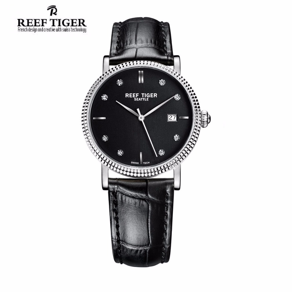 New 2017 Reef Tiger/RT Watches Business Watches With Date Men Automatic Designer Watches Steel Case with Diamonds Markers RGA163 yn e3 rt ttl radio trigger speedlite transmitter as st e3 rt for canon 600ex rt new arrival