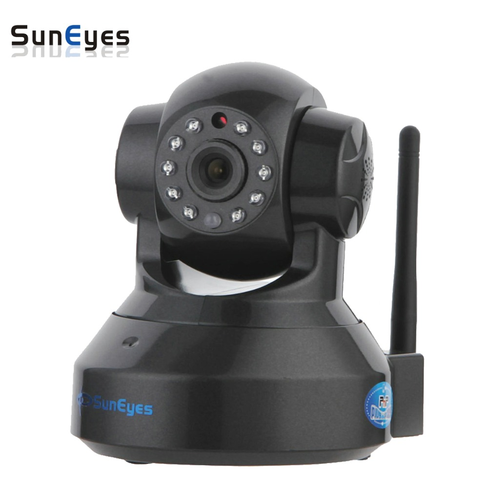 цена на SunEyes SP-TM01EWP 1280*720P 1.0 Megapixel HD Wireless IP Camera Support Pan/Tilt Two way audio and P2P Plug Play ONVIF SD Slot